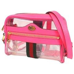 GUCCI Ophidia clear shoulder Womens shoulder bag 517350 Light pink