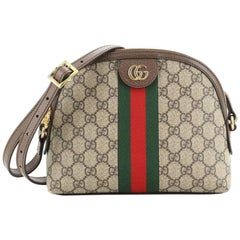 Gucci Ophidia Dome Shoulder Bag GG Coated Canvas Small