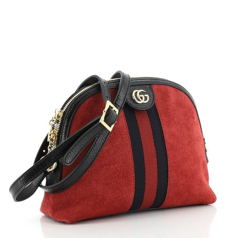 Brown  Gucci Ophidia Dome Shoulder Bag Suede Small For Sale