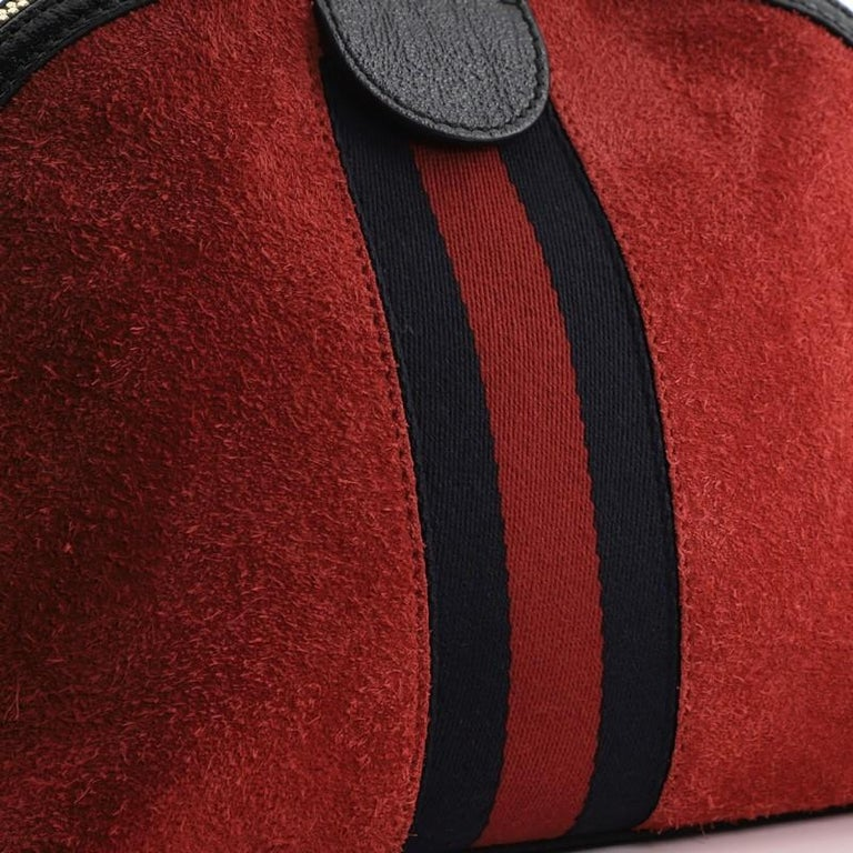 Gucci Ophidia Dome Shoulder Bag Suede Small For Sale 3