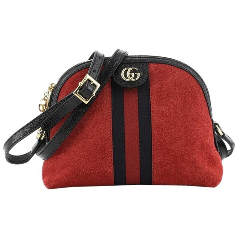 Gucci Ophidia Dome Shoulder Bag Suede Small For Sale