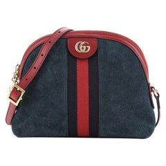Gucci Ophidia Dome Shoulder Bag Suede Small