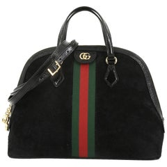 0630193142d Gucci Ophidia Dome Top Handle Bag Suede Medium