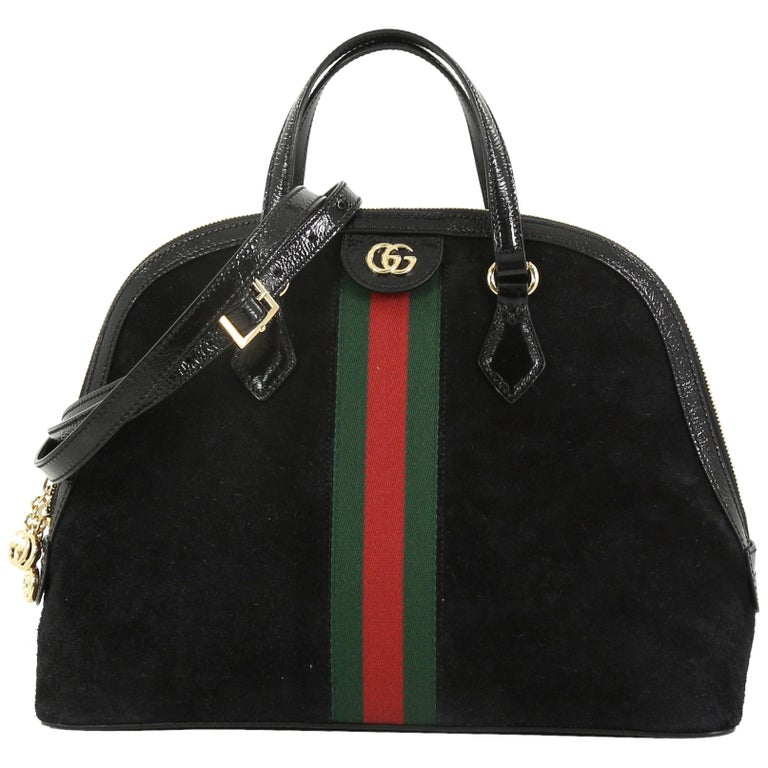 505b0132a56a30 Gucci Ophidia Dome Top Handle Bag Suede Medium For Sale at 1stdibs