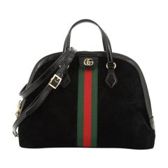Gucci Ophidia Dome Top Handle Bag Suede Medium