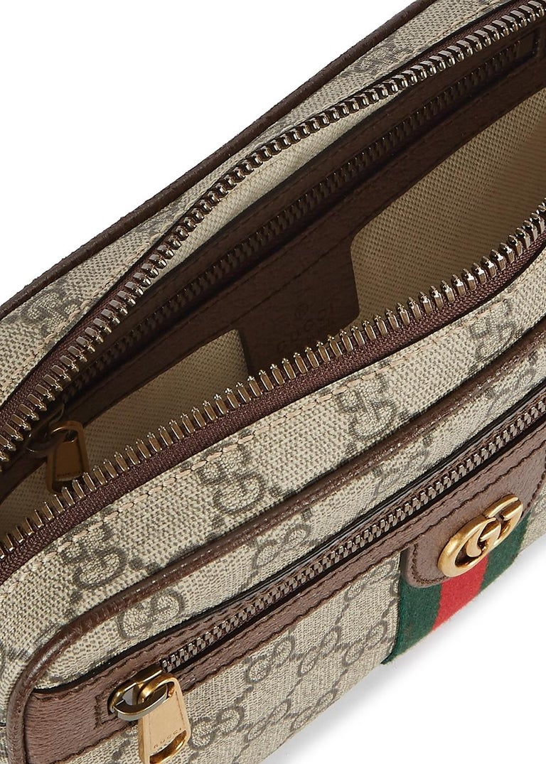 Gucci Ophidia GG Monogram Leather Belt Bag In New Condition In London, GB