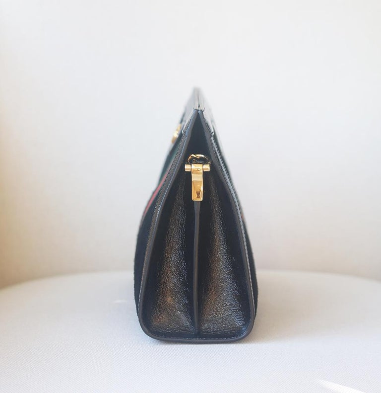 Women's Gucci Ophidia Patent Leather-Trimmed Suede Shoulder Bag