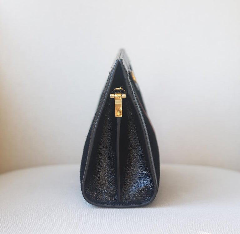 Gucci Ophidia Patent Leather-Trimmed Suede Shoulder Bag 1