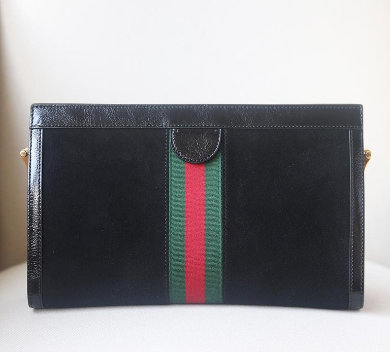 Gucci Ophidia Patent Leather-Trimmed Suede Shoulder Bag 2