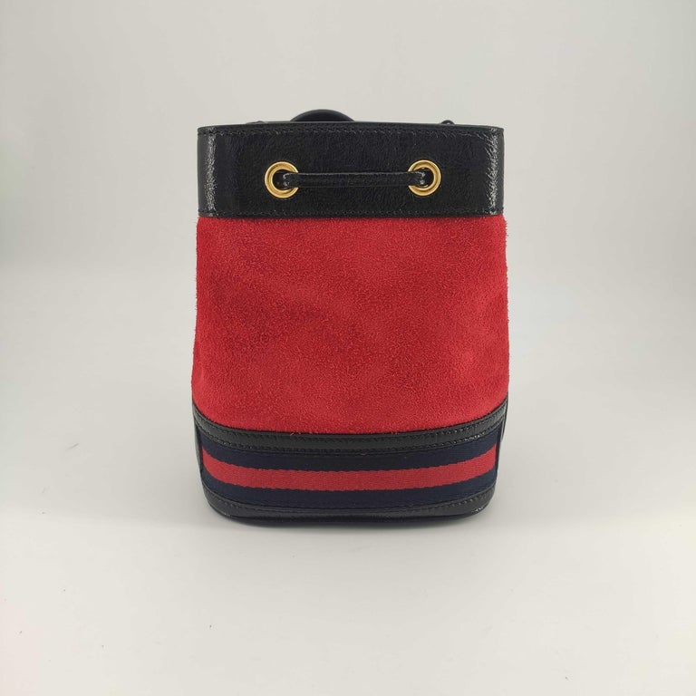 Brown GUCCI Ophidia Shoulder bag in Red Velvet