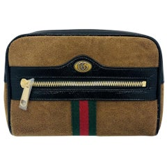Gucci Ophidia small belt bag - Beige Suede Black leather - New