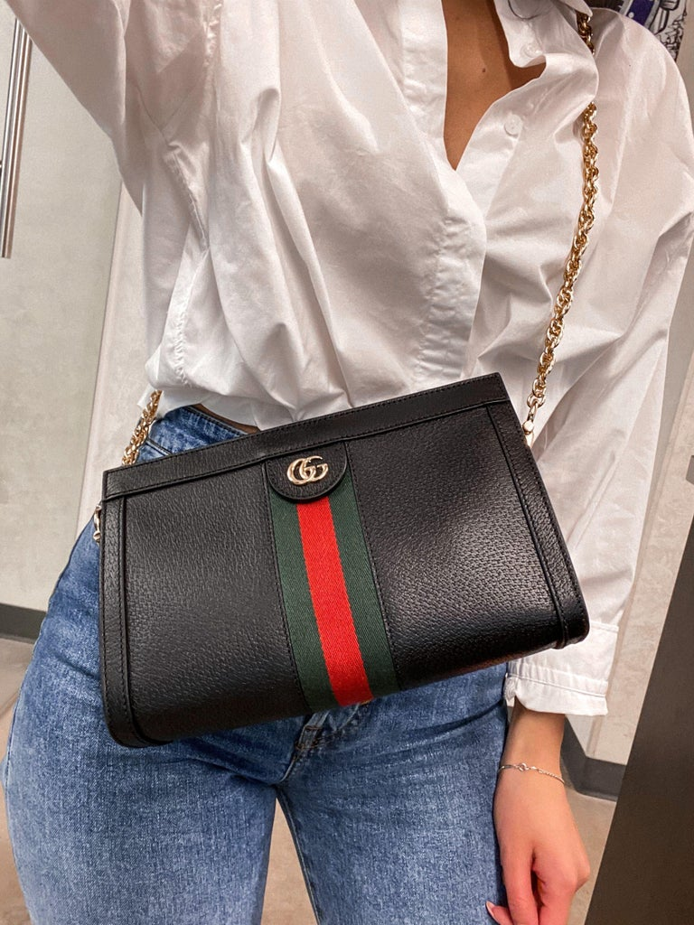 Gucci Ophidia Small Leather Women's Shoulder Bag 503877 DJ2DG 1060 For Sale 9