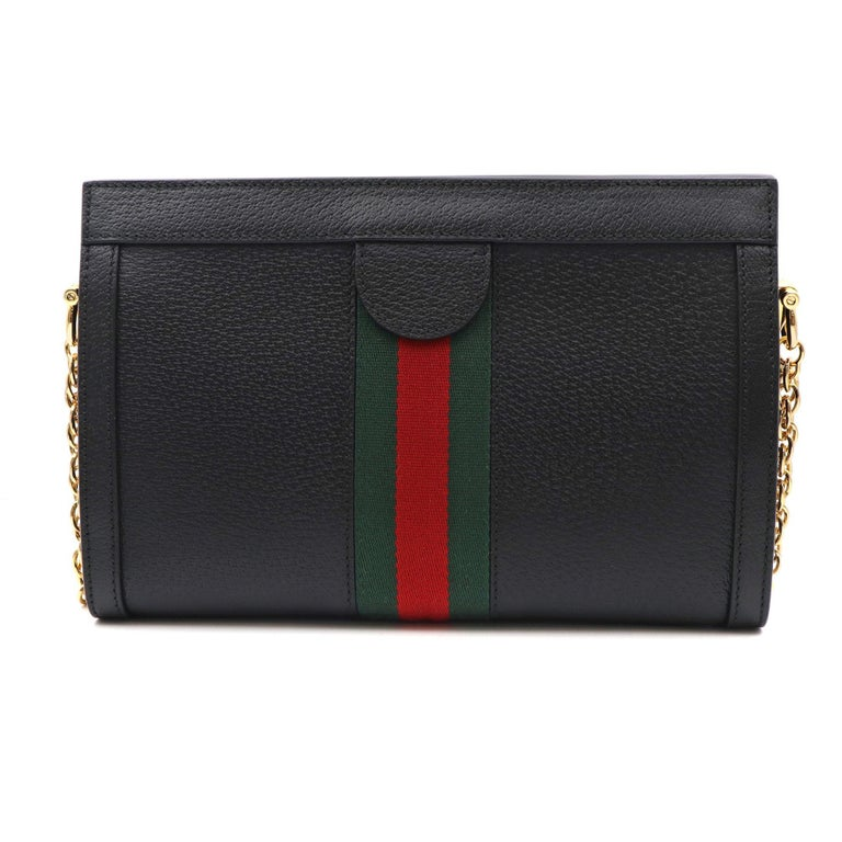 Gucci Ophidia Small Leather Women's Shoulder Bag 503877 DJ2DG 1060 In New Condition For Sale In New York, NY