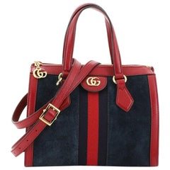 Gucci Ophidia Top Handle Bag Suede Small