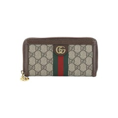 Gucci Ophidia Zip Around Wallet GG Coated Canvas