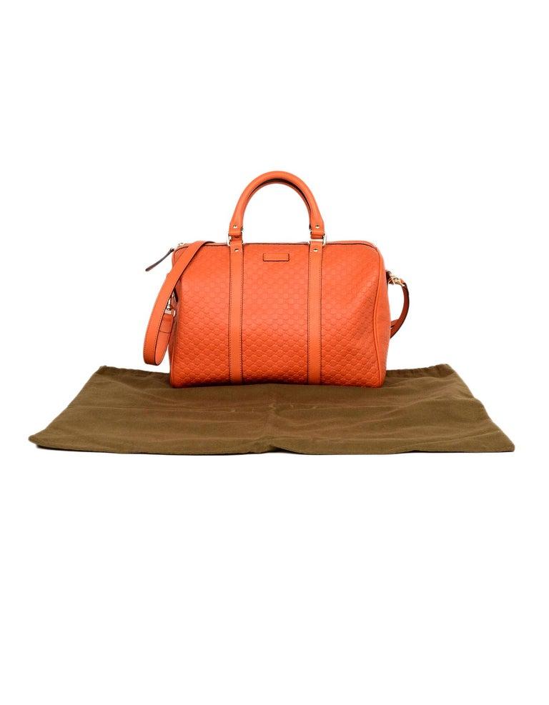 4be49977ad1 Gucci Orange GG Monogram Microguccissima Leather Medium Joy Boston Bag W   Strap For Sale 7