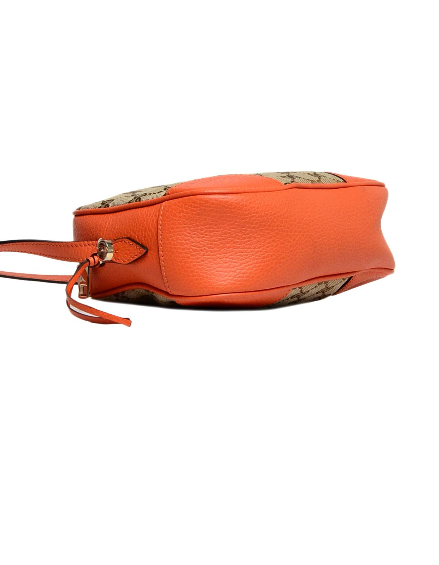 b33b74a59 Gucci Orange Leather/GG Monogram Bree Crossbody Bag For Sale at 1stdibs