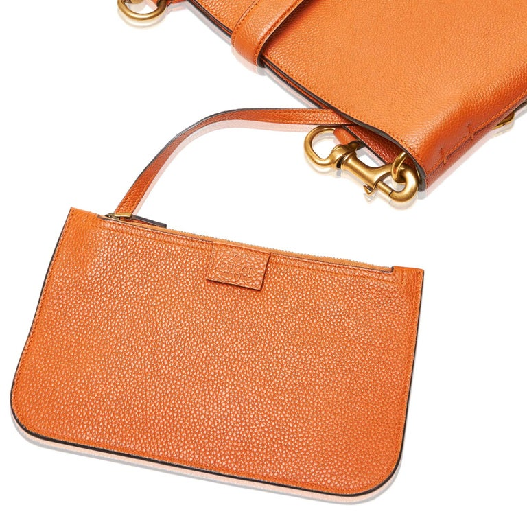 a639fe553cf Gucci Orange Leather New Jackie Bucket Bag Italy w  Dust Bag at 1stdibs