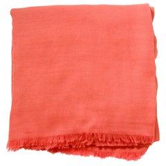 "Gucci Orange Mini Monogram Cotton/Modal XL 79"" Scarf/Shawl"
