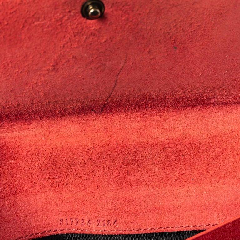 Gucci Orange Patent Leather Horsebit Continental Wallet In Good Condition For Sale In Dubai, Al Qouz 2