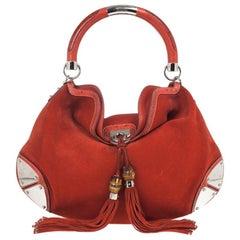 Gucci Orange Suede Medium Babouska Indy Bag