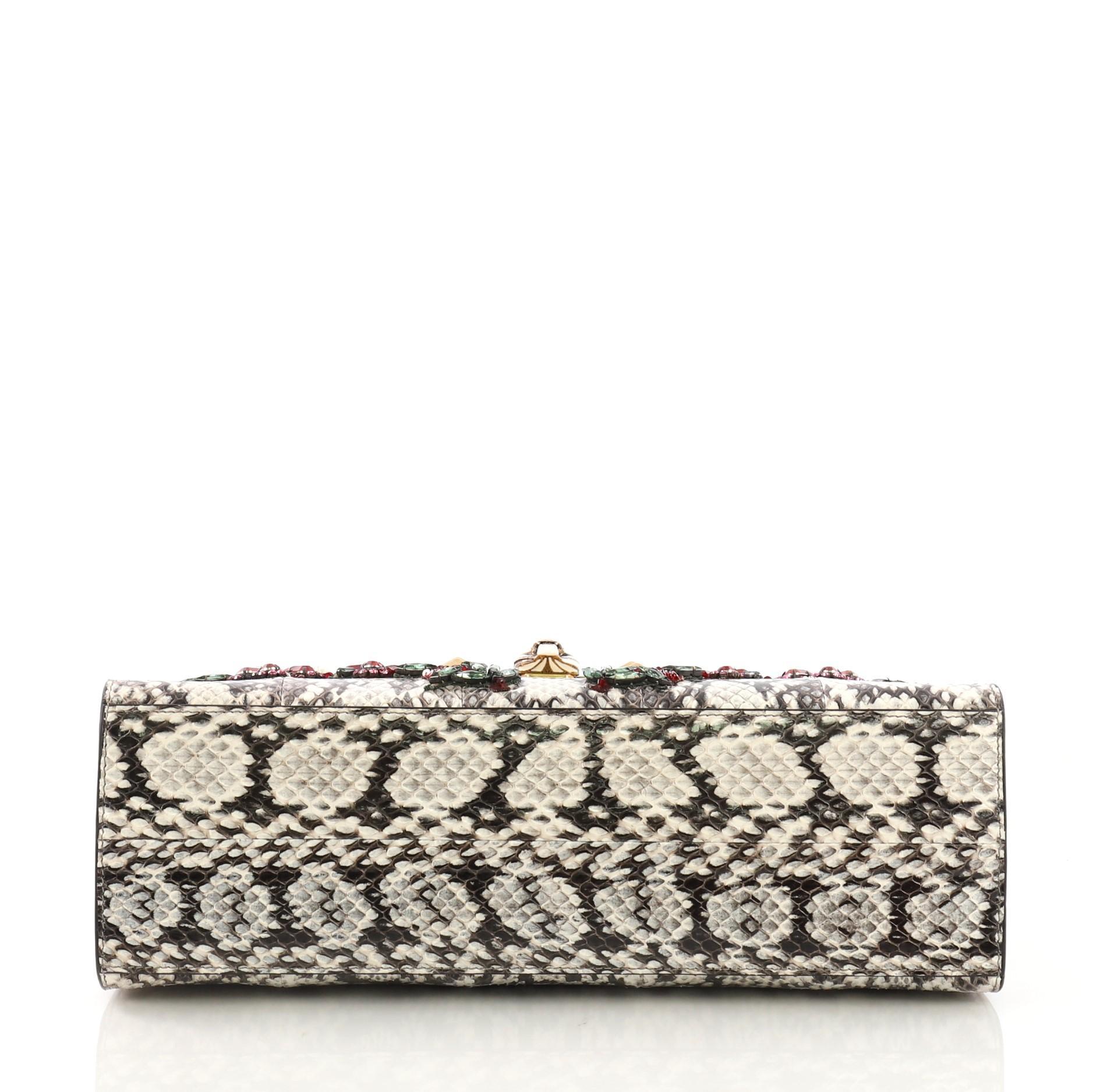 47f2f9bc33 Gucci Osiride Top Handle Bag Embellished Snakeskin Medium at 1stdibs