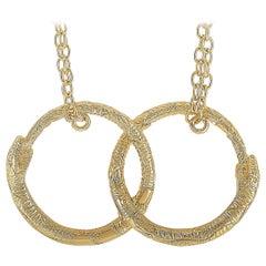 Gucci Ouroboros 18 Karat Yellow Gold Necklace