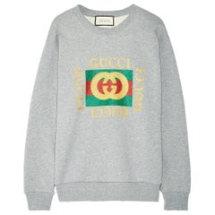 Gucci Oversized Appliquéd Printed Cotton-Terry Sweatshirt