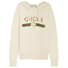 Gucci Oversized Embroidered Hooded Sweatshirt
