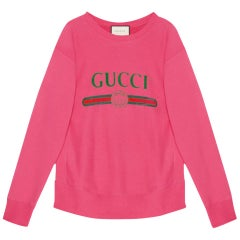 Gucci Oversized Logo-Printed Cotton-Terry Sweatshirt