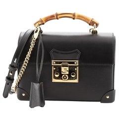 Gucci Padlock Bamboo Shoulder Bag Leather Small