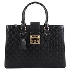 Gucci Padlock Convertible Tote Guccissima Leather Medium