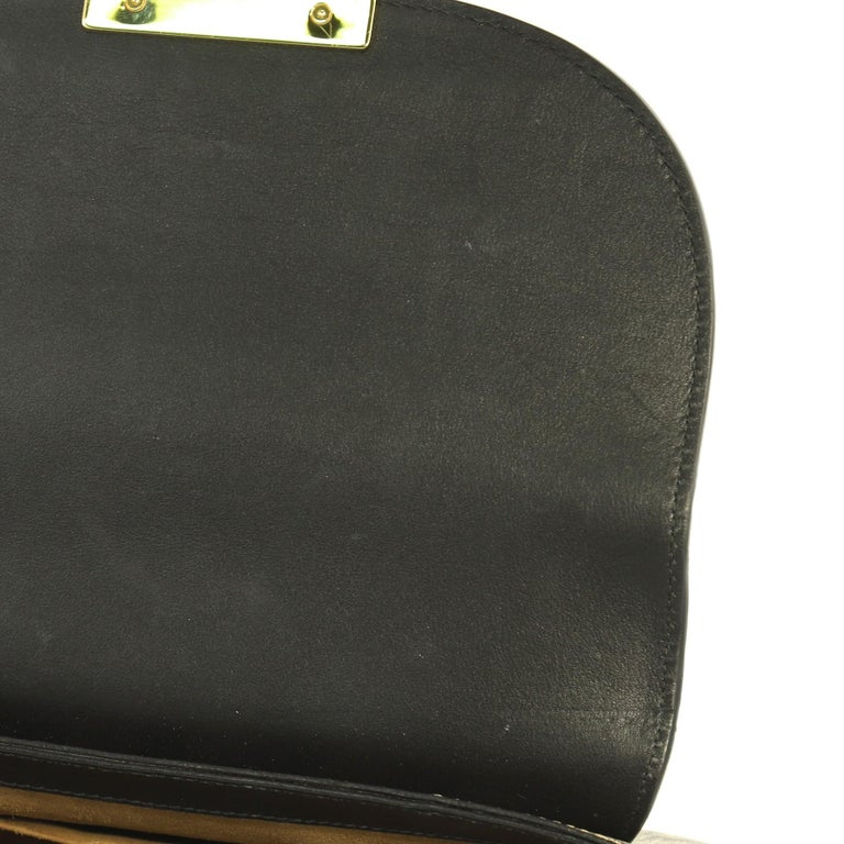 a0d74fac5 Gucci Padlock Saddle Shoulder Bag GG Coated Canvas and Leather Medium For  Sale 1