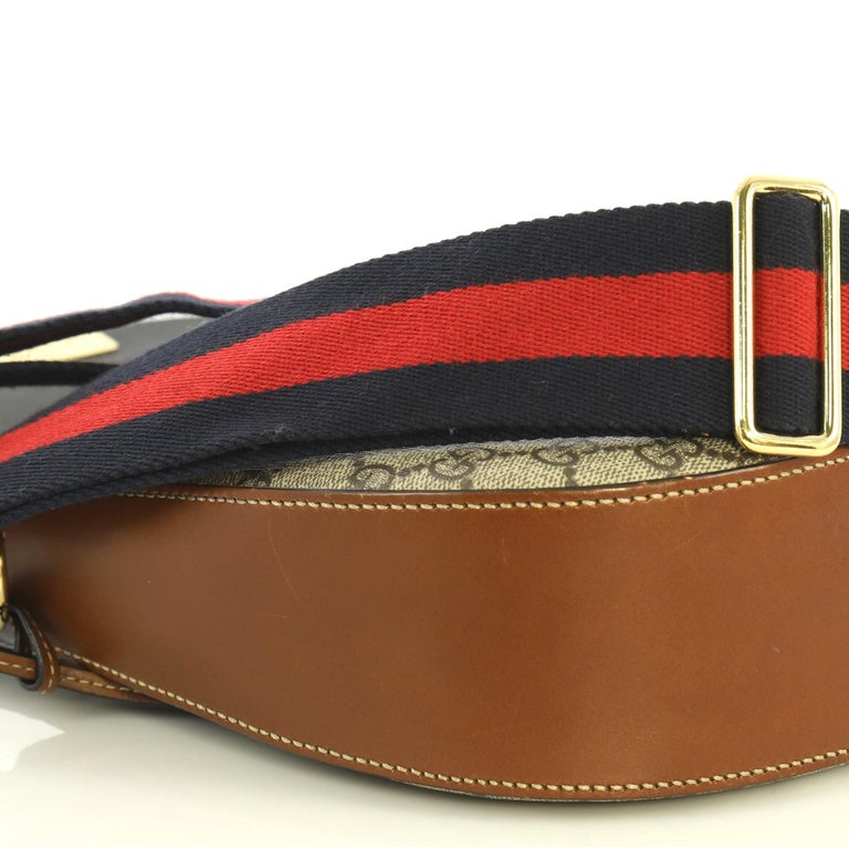 4c1e34b35 Gucci Padlock Saddle Shoulder Bag GG Coated Canvas and Leather Medium For  Sale 2