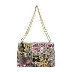 Gucci Padlock Shoulder Bag Bengal Print GG Coated Canvas Medium