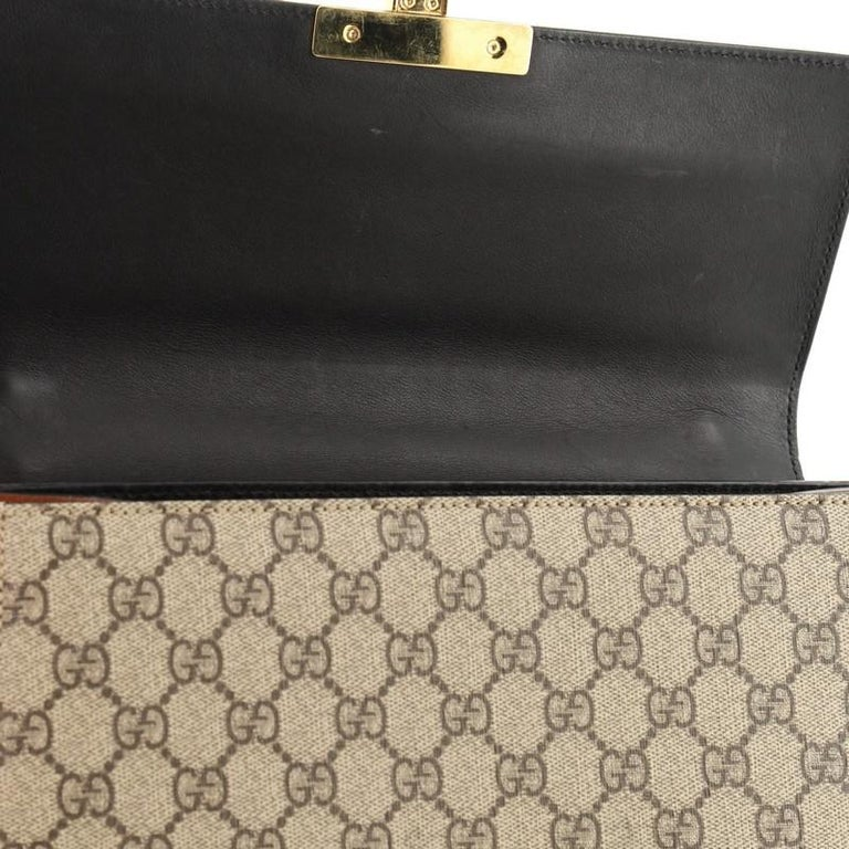 Gucci Padlock Shoulder Bag GG Coated Canvas and Leather Medium 3
