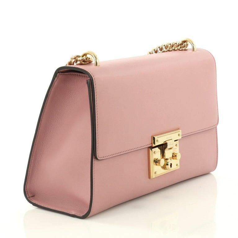 3f7d1dbf3e6a4 Gucci Padlock Shoulder Bag Leather Medium For Sale at 1stdibs