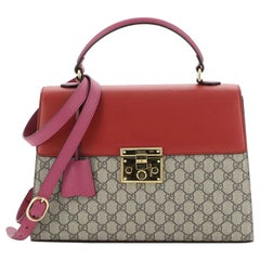 Gucci Padlock Top Handle Bag GG Coated Canvas and Leather Medium