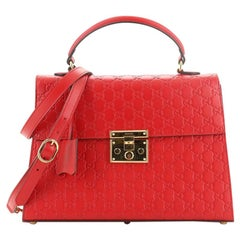 Gucci Padlock Top Handle Bag Guccissima Leather Medium