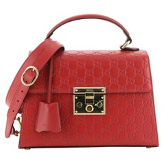 Gucci Padlock Top Handle Bag Guccissima Leather Small