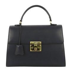 Gucci Padlock Top Handle Bag Leather Medium