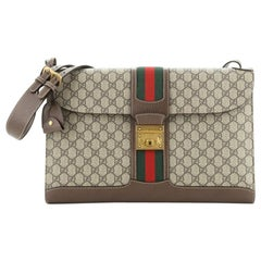 Gucci Padlock Web Messenger Bag GG Coated Canvas Large