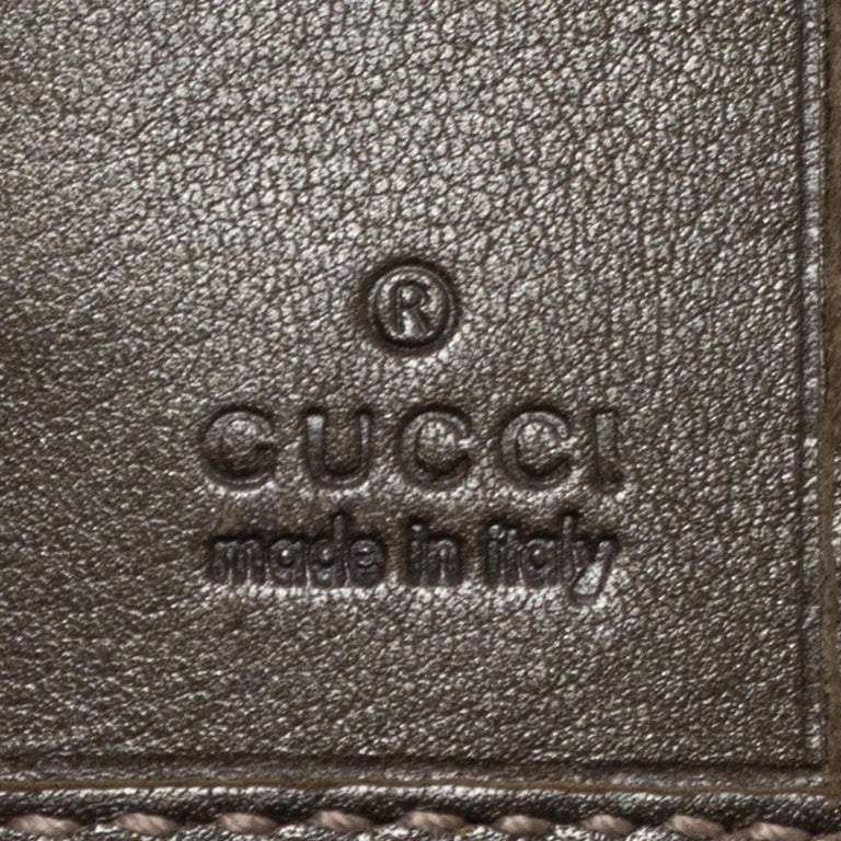 Gucci Pale Green Imprime Canvas Interlocking G Continental Wallet For Sale 4
