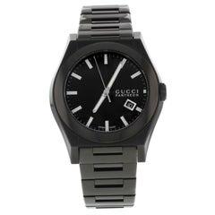 Gucci Pantheon 115 YA115244 Black Ion Plated Steel Quartz Men's Watch