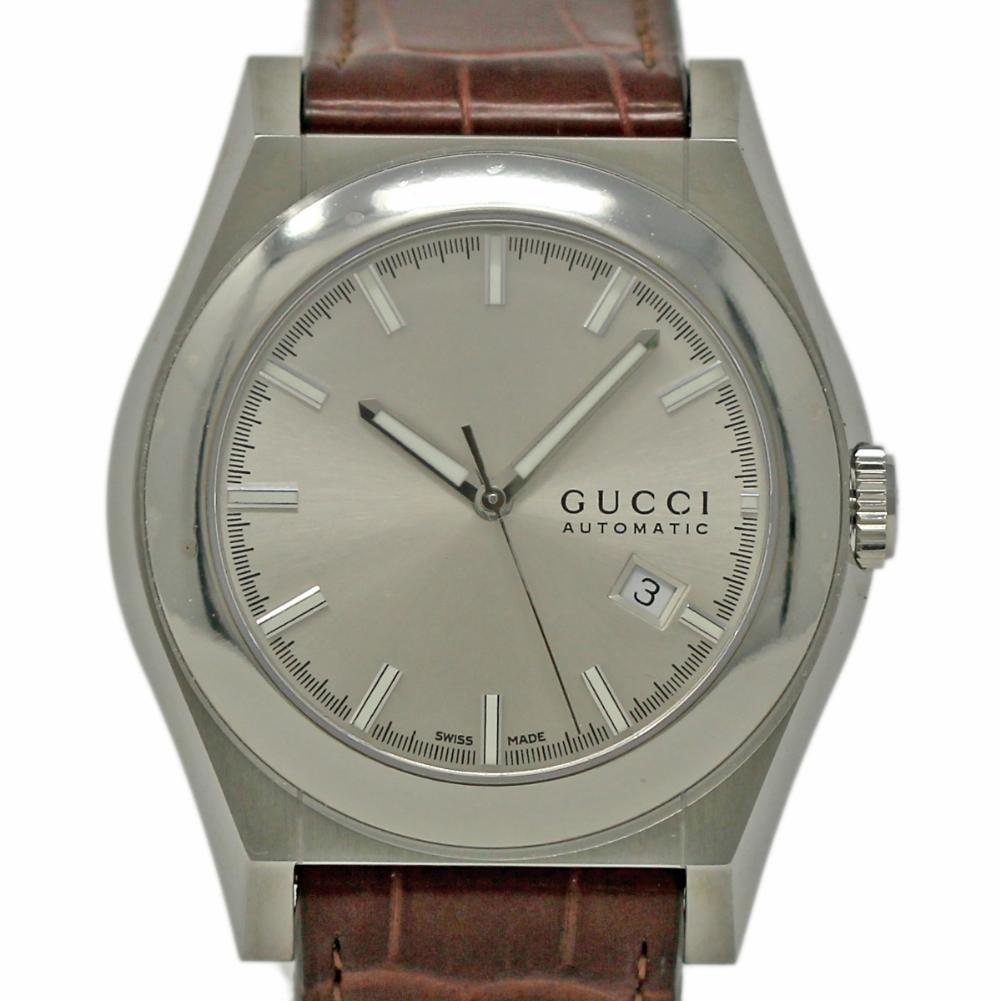 53ec5dbf820 Gucci 115 Pantheon YA115218 Stainless Steel Red Dial Box Warranty  501-3  For Sale at 1stdibs