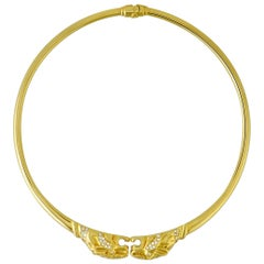 Gucci Panthere Diamond Yellow Gold Choker Necklace