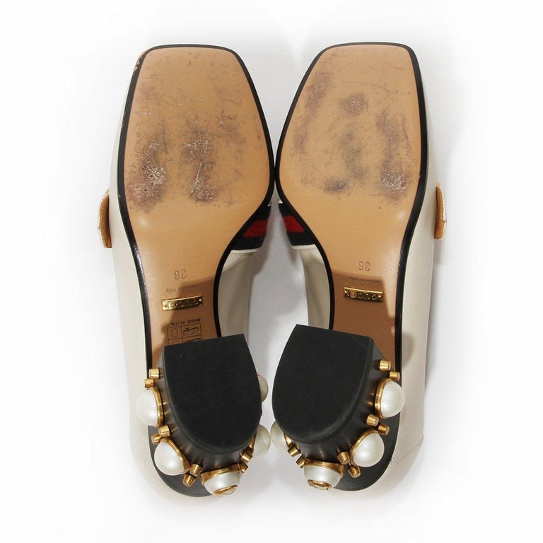Gucci Pearl Heel Loafer SS2016 For Sale 1