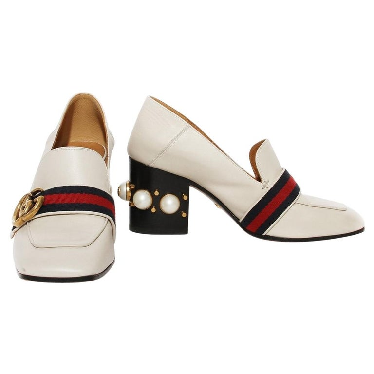 Gucci Pearl Heel Loafer SS2016 For Sale