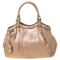 Gucci Pearly Beige Leather Medium Sukey Tote