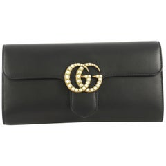 Gucci Pearly GG Marmont Clutch Leather